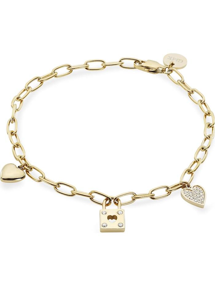 GMK Damen-Armband Edelstahl 21 Zirkonia Guido Maria Kretschmer gelbgold