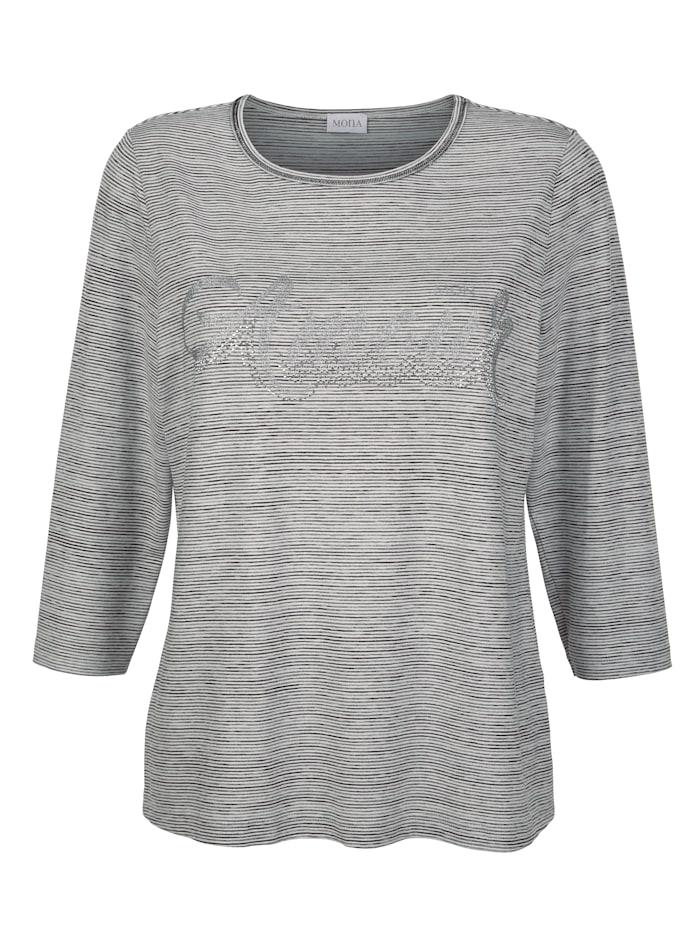 Shirt MONA Grijs::Wit::Zwart
