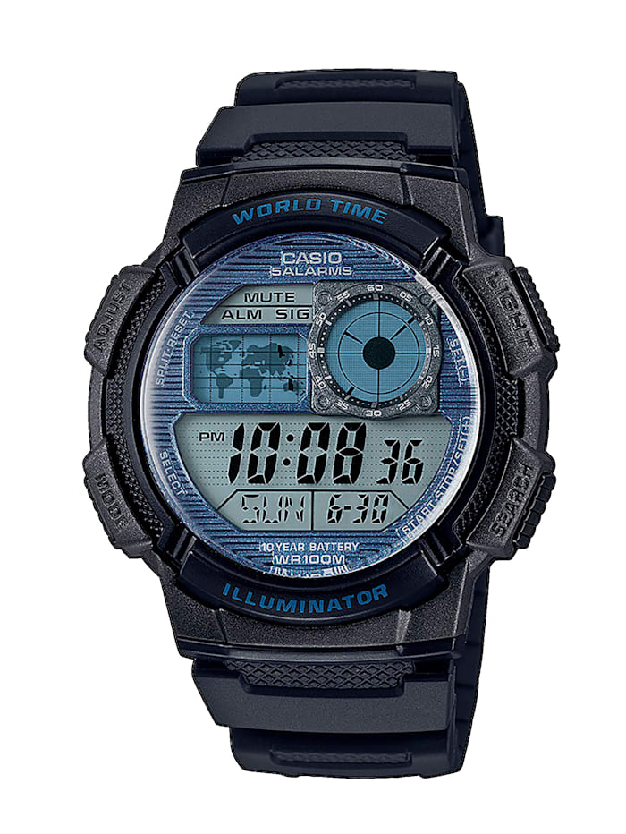 casio - Herren-Uhr Chronograph  Schwarz