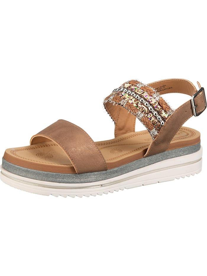 laufsteg - Klassische Sandaletten  braun