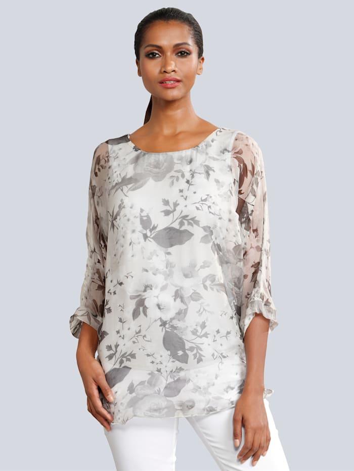 Blouse Alba Moda Zilverkleur::Grijs