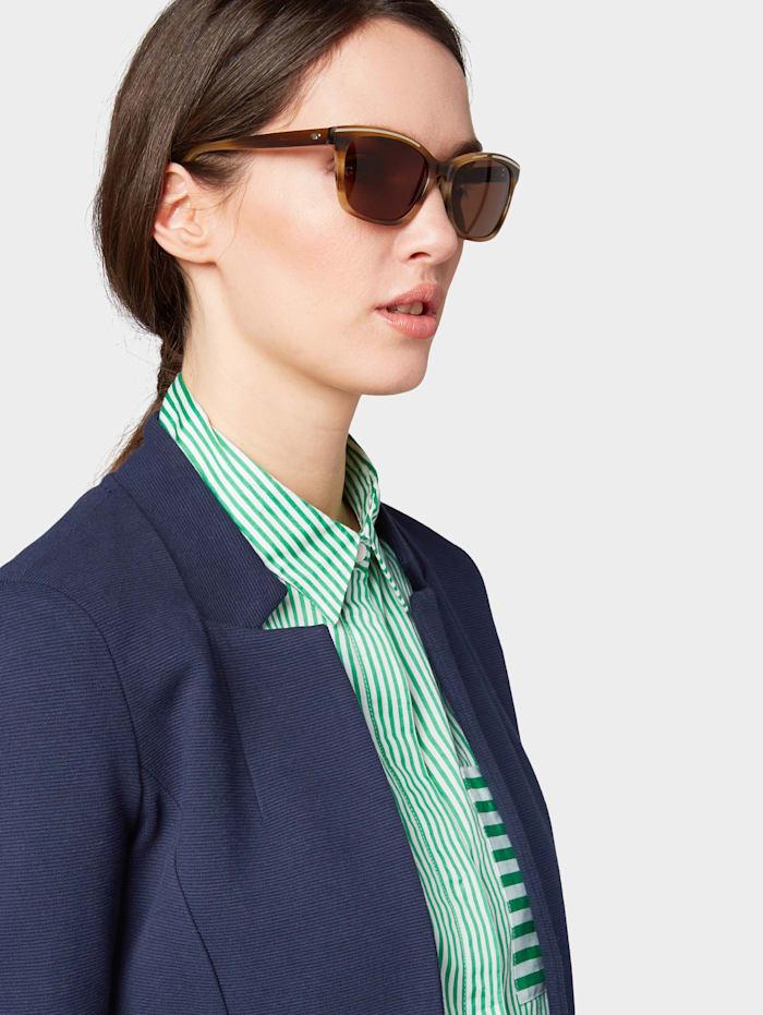 tom tailor - Sonnenbrille mit Streifenmuster  hell braun struk.-gold
