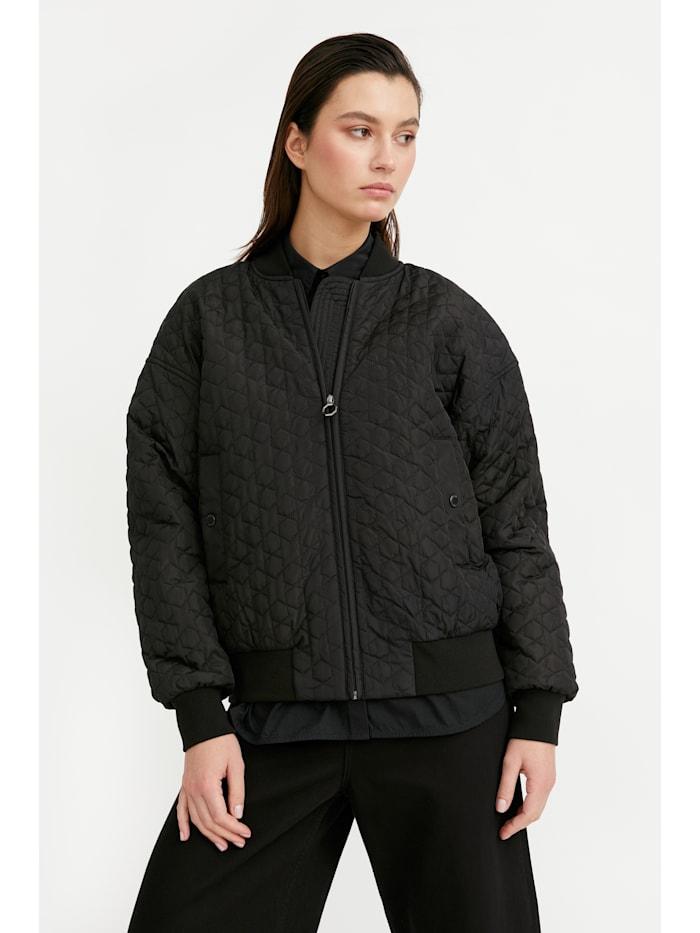 finn flare - Jacke - mit stylishem Bomber-Kragen  black
