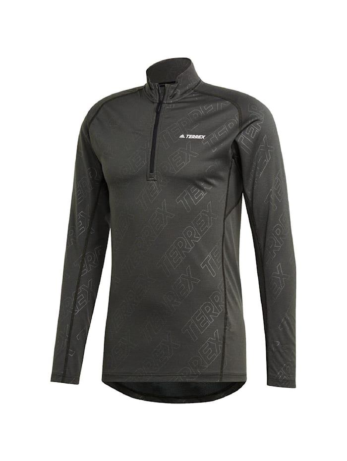 adidas -  Shirt TRACEROCKER 1/2 ZIP LONGSLEE  Dunkelgrau