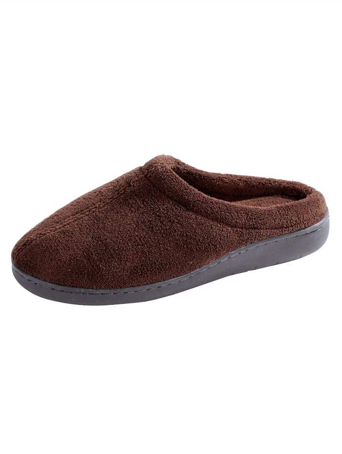 Deze klassieke pantoffel van textiel heeft zeker een plekje in uw schoenenkast verdiend. de schoen heeft een ...