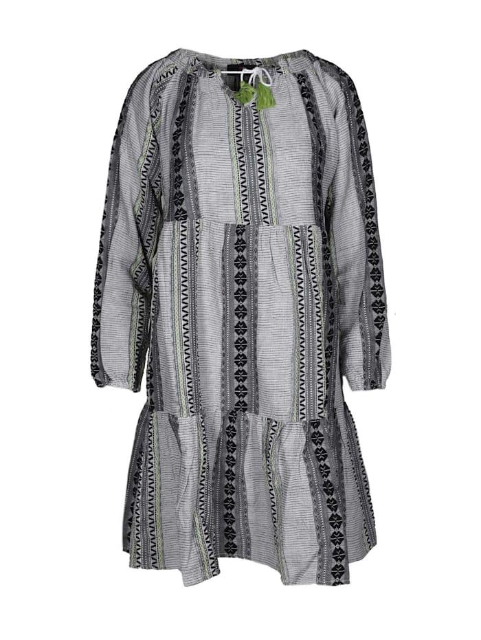 zwillingsherz - Sommerkleid Kleid Marieke  grau/grün