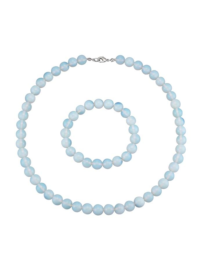 2-delige sieradenset van opaal KLiNGEL Lichtblauw