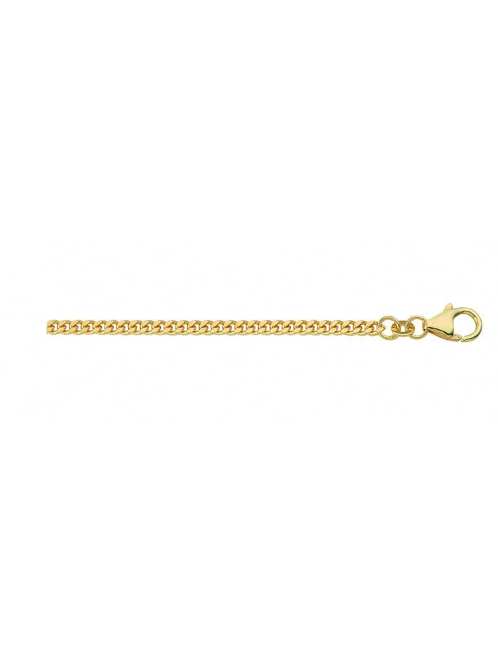 1001 diamonds - Damen Goldschmuck 333 Gold Flach Panzer Halskette  gold