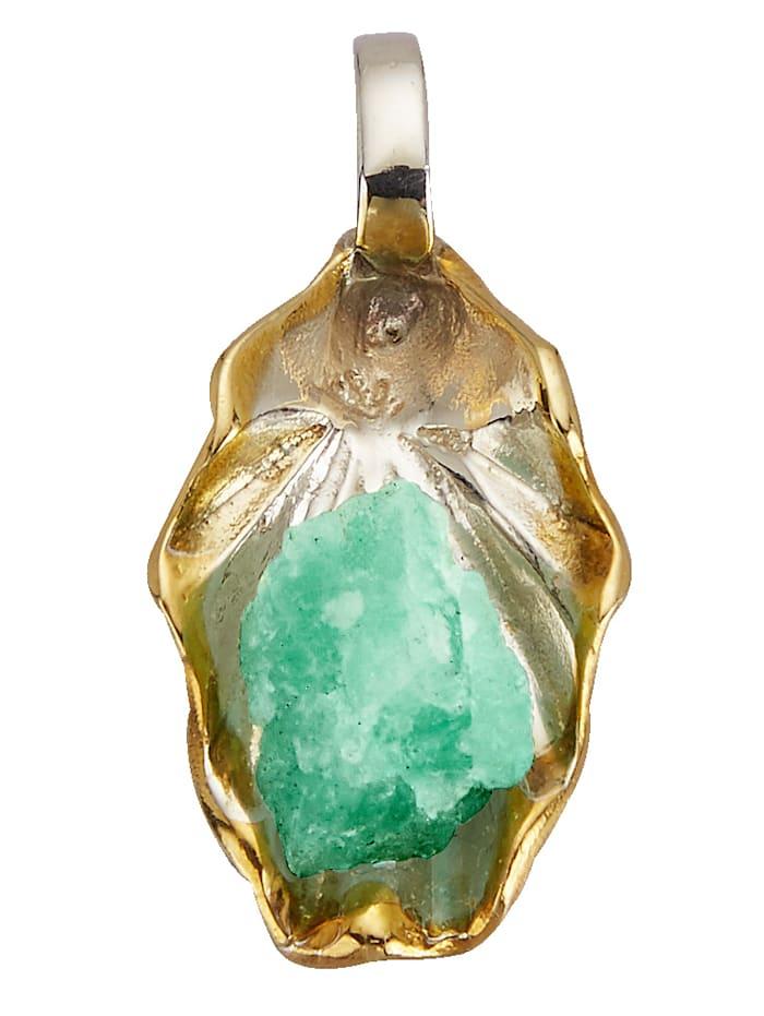 Image of Anhänger mit Roh-Smaragd Amara Atelier Grün