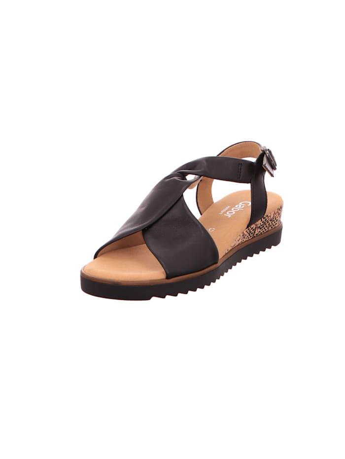 gabor - Sandalen/Sandaletten  schwarz