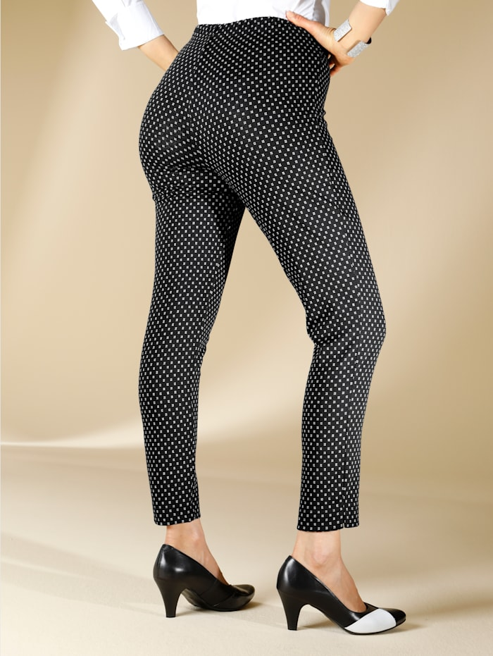 M. collection Broek  Zwart::Wit