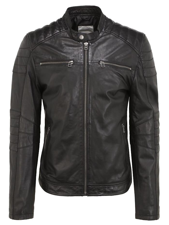 goosecraft - Lederjacke GC Jacket965  black