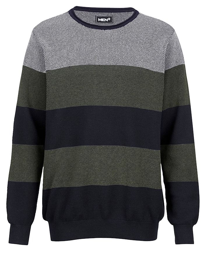 men plus - Pullover  Oliv::Marineblau