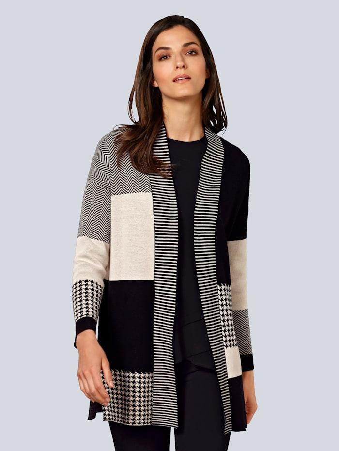 Vest Alba Moda Zwart::Beige