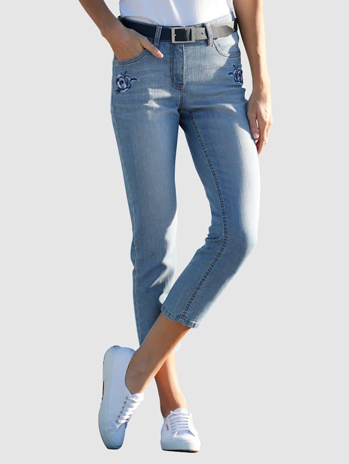 Image of 3/4 Jeans Dress In Blau