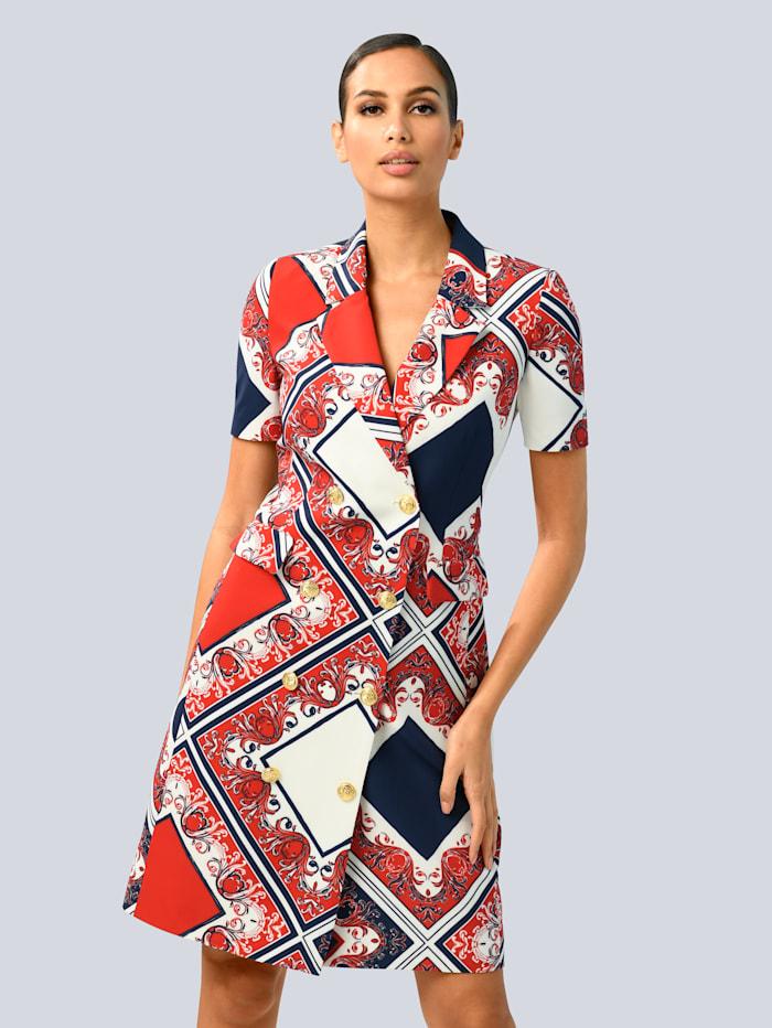 alba moda - Kleid  Marineblau::Rot::Weiß