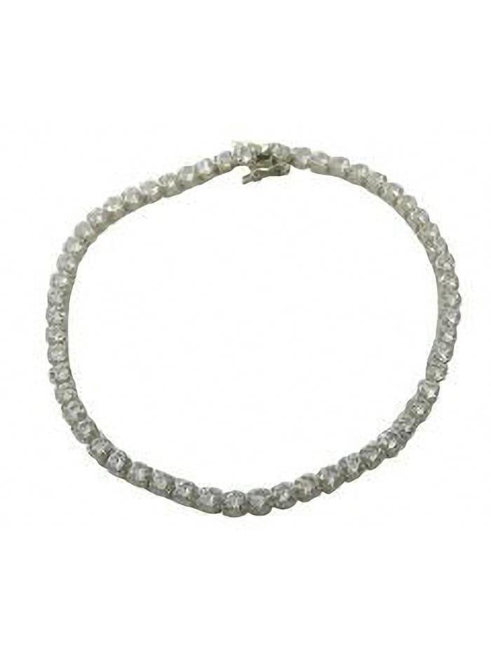 one element - Damen Schmuck Armband aus 925 Silber Zirkonia 19 cm  silber