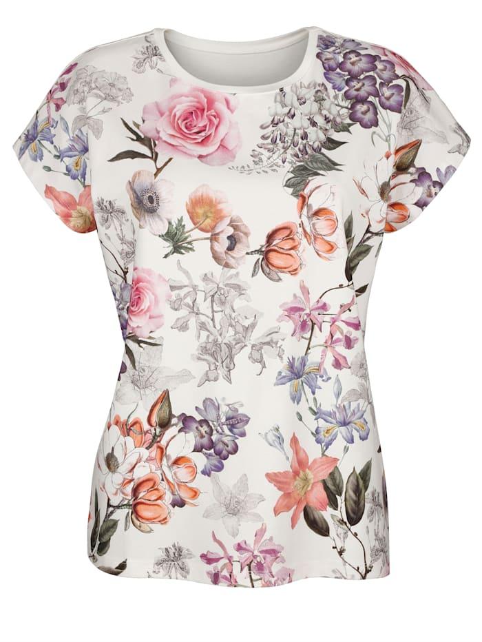 Shirt MONA Ecru::Roze::Lavendel