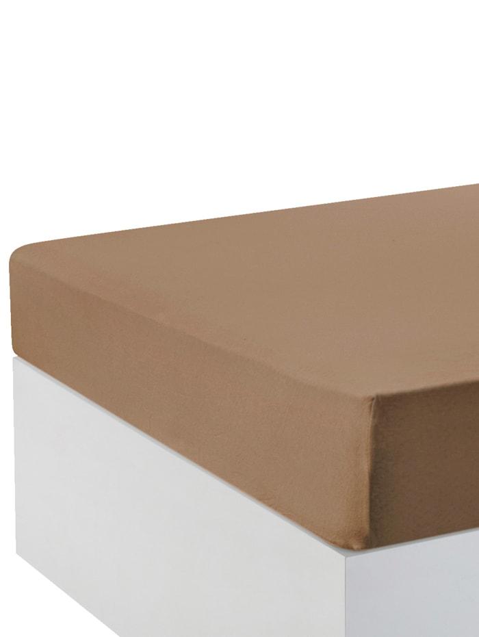 Hoeslakens per 2 stuks Webschatz bruin