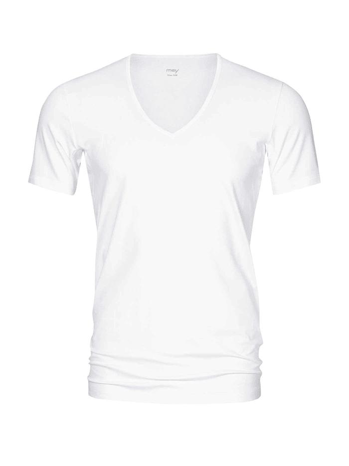 mey - Atmungsaktives Business Shirt mit V-Neck  White