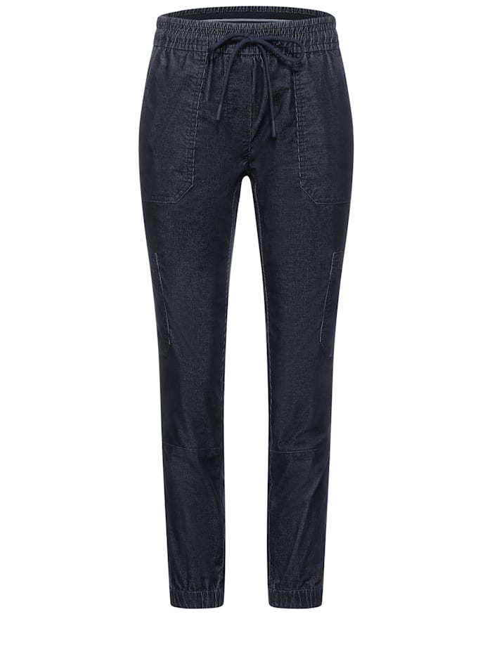 cecil - Loose Fit Hose in Inch 28  deep blue