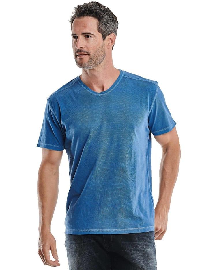 engbers - V-Neck T-Shirt  Wasserblau