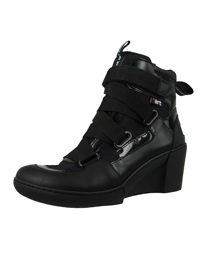 *art - Damen Keil-Stiefelette Ankle Boot Rotterdam Black Schwarz 1563  Black