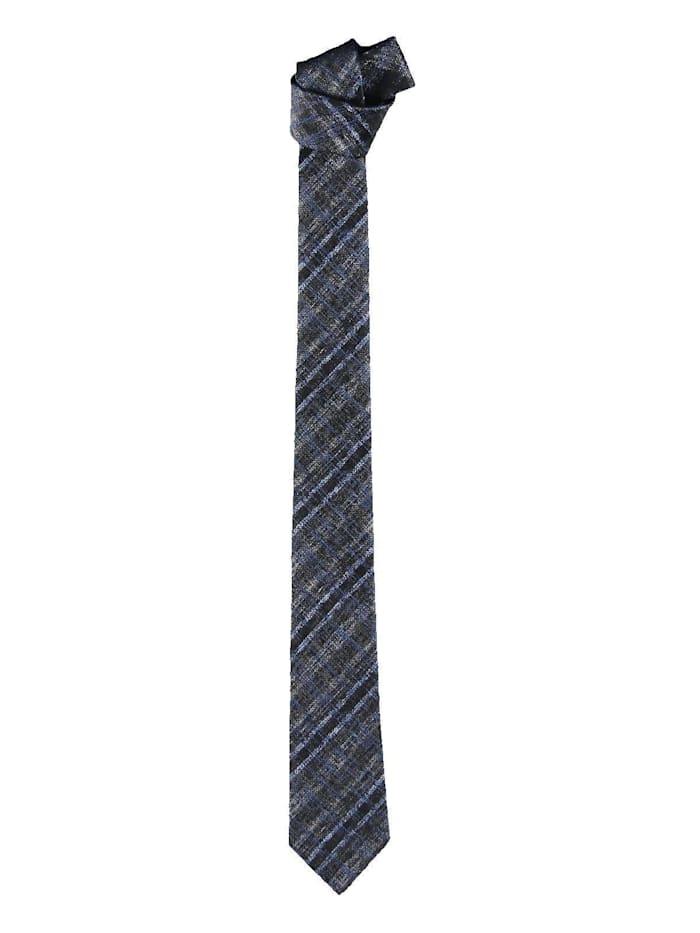 engbers - Modische Krawatte mit dezentem Karomuster  Anthrazit