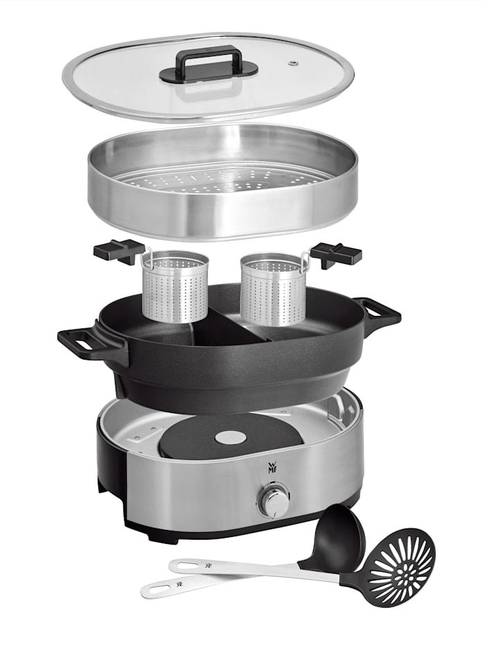 Image of Hot Pot & Dampfgarer 'Lono'; für 6 Personen, 3,6 Liter WMF Silberfarben::Schwarz
