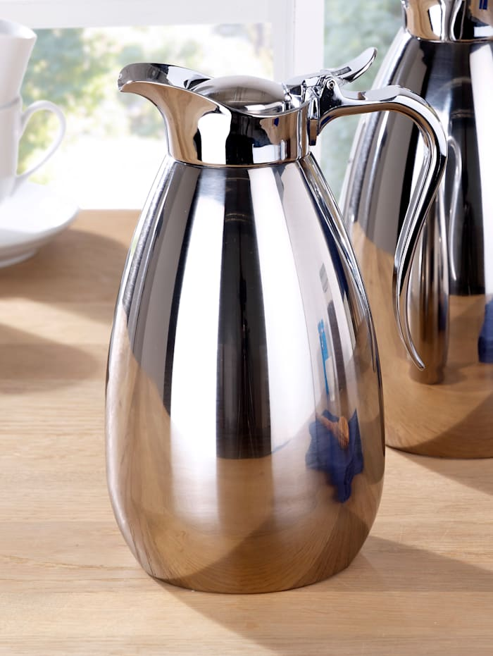 Thermoskan 1,5 liter Esmeyer Zilver
