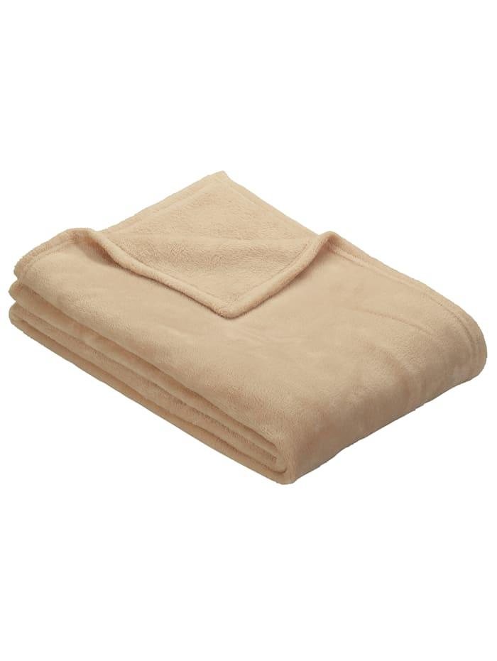 Fleece plaid Olbia Ibena camel