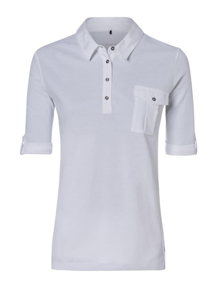 olsen - Poloshirt mit Brusttasche  White