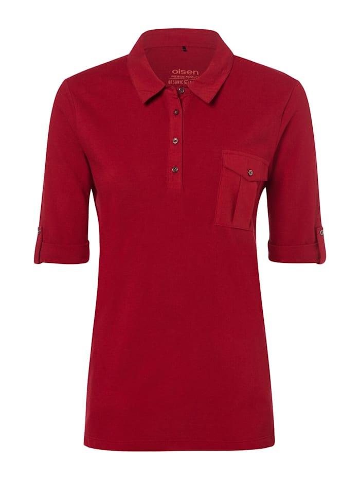 olsen - Poloshirt mit Brusttasche  Cayenne