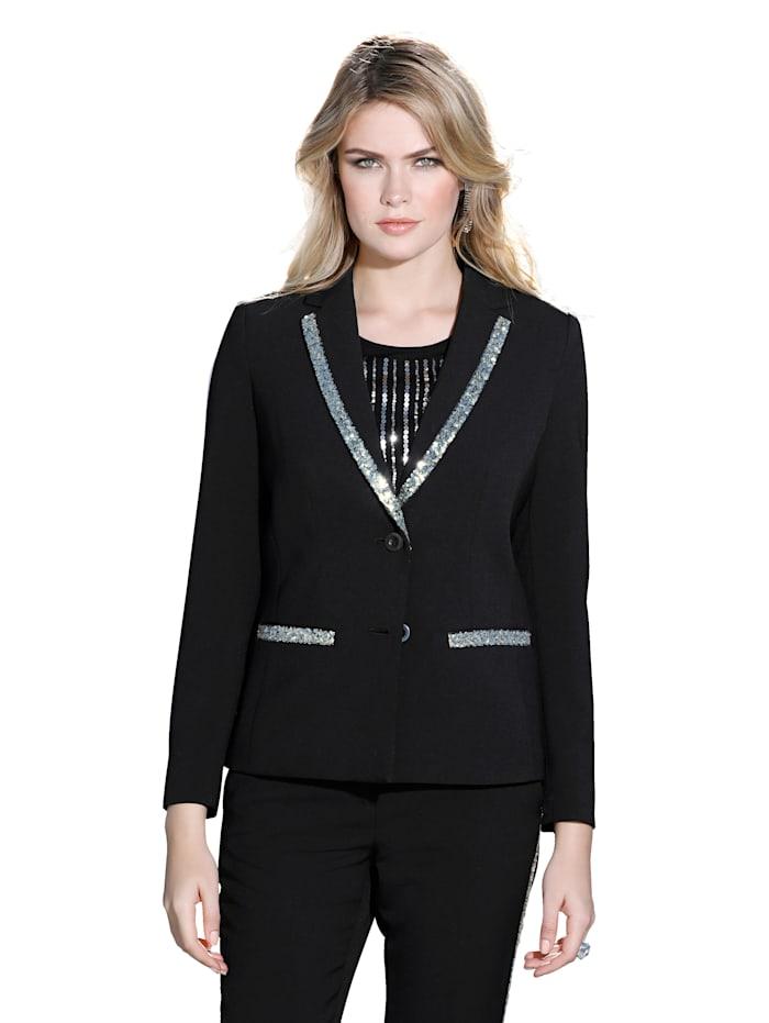 Blazer AMY VERMONT Zwart::Zilverkleur