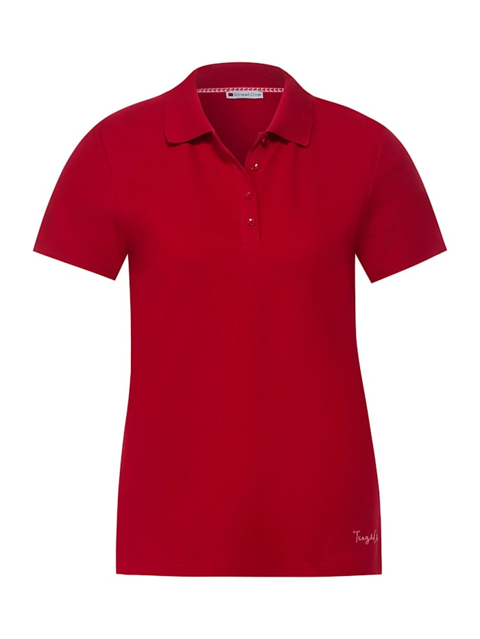 street one - Poloshirt in Unifarbe  spice red