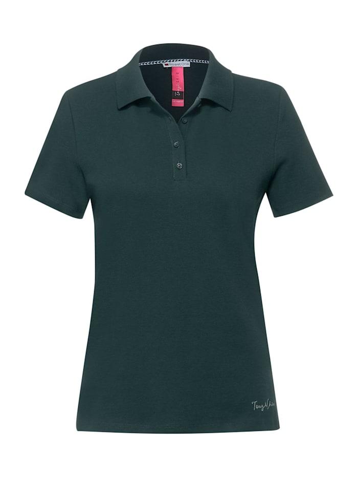 street one - Poloshirt in Unifarbe  spruce green