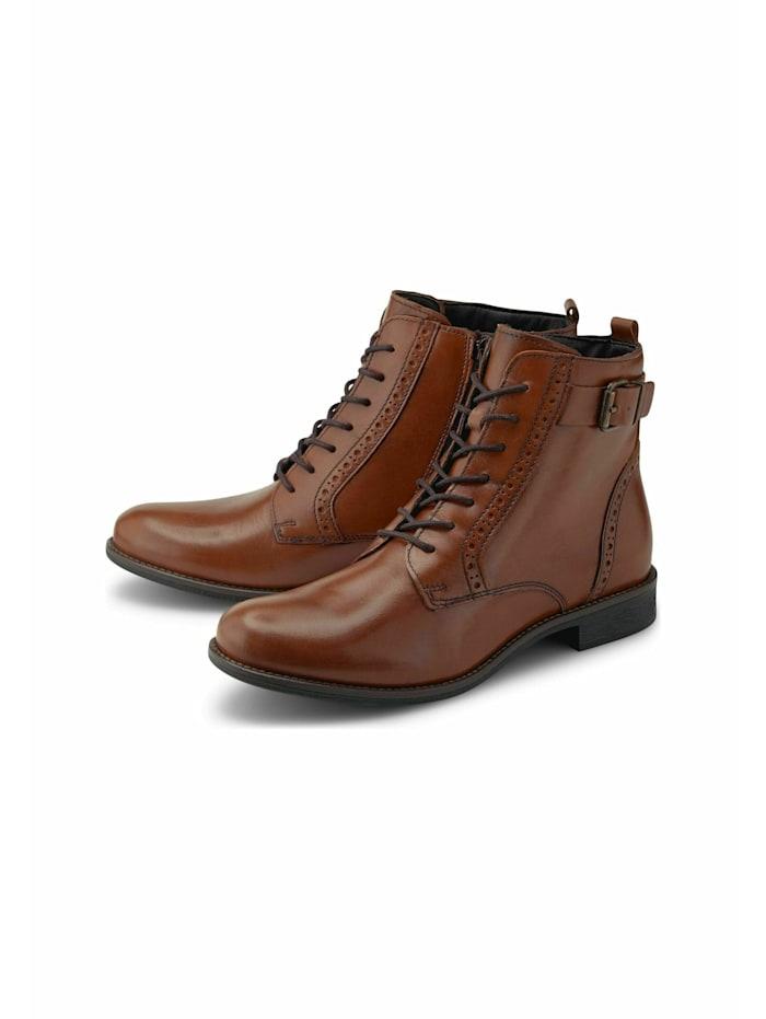 cox - Schnürstiefeletten Schnür-Boots  mittelbraun