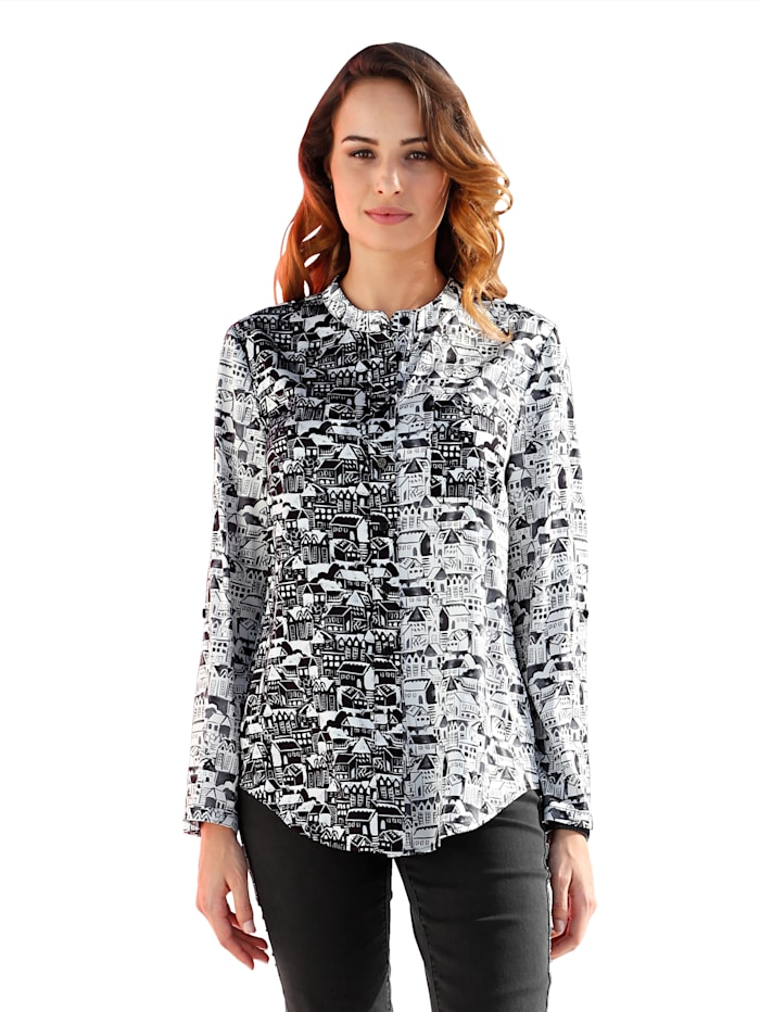 Amy vermont Blouse  Zwart::Wit