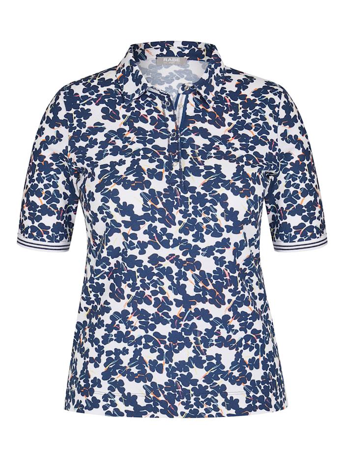 rabe - Shirt mit geblümtem Muster und Druckknöpfen  DUNKEL DENIM