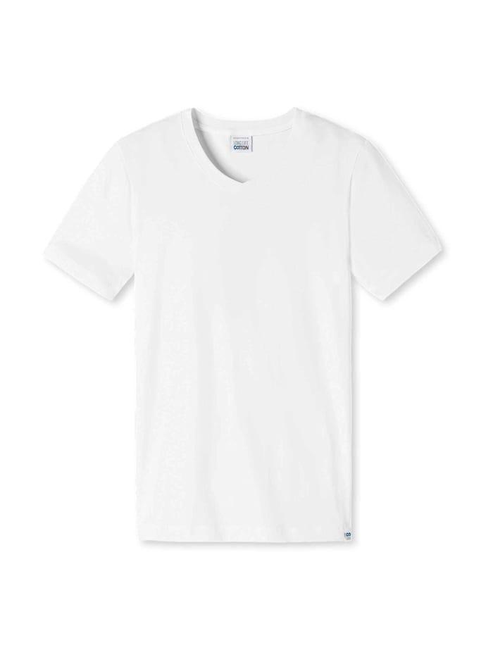 schiesser - Shirt mit V-Ausschnitt  weiss