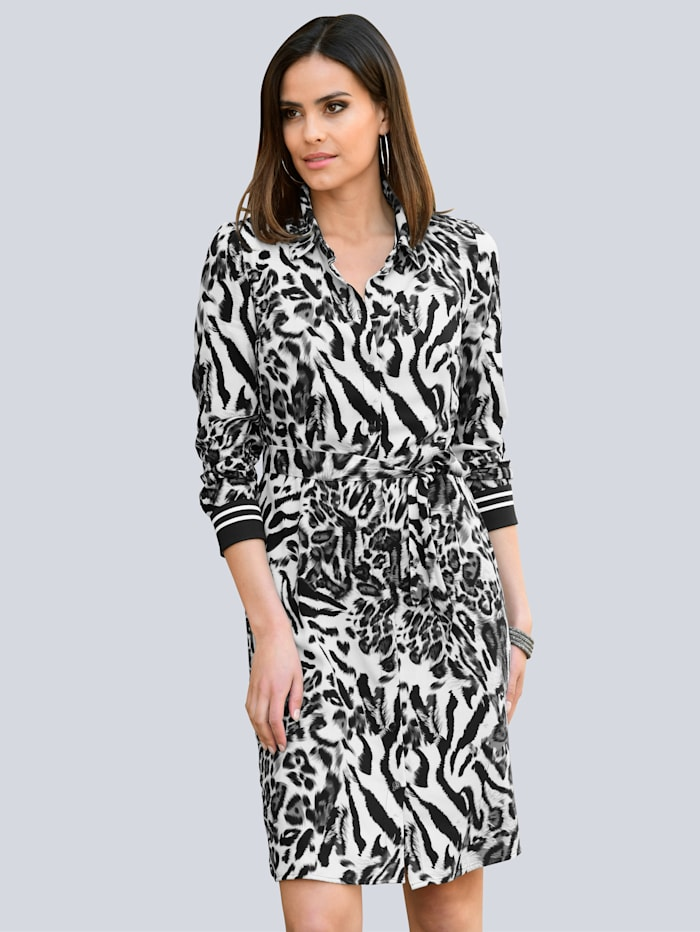 alba moda - Kleid  Schwarz::Grau::Off-white