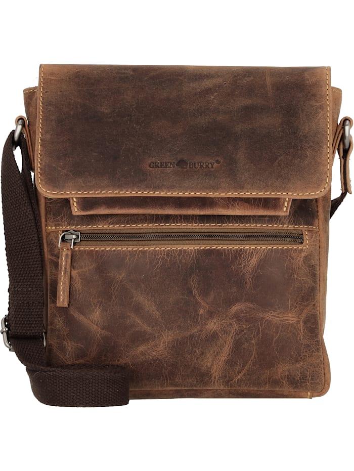 greenburry - Vintage Umhängetasche Leder 22 cm  brown