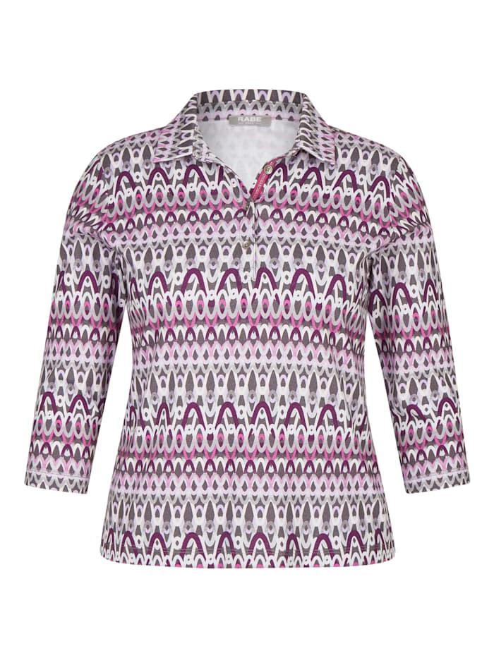 rabe - Shirt mit Polo-Kragen und Glitzer-Details  FLANELL