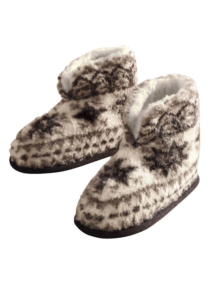 Pantoffels van scheerwol Linke Licardo folklore