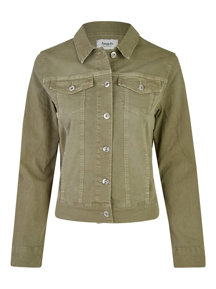 angels - Jeansjacke aus Coloured Denim  light khaki used