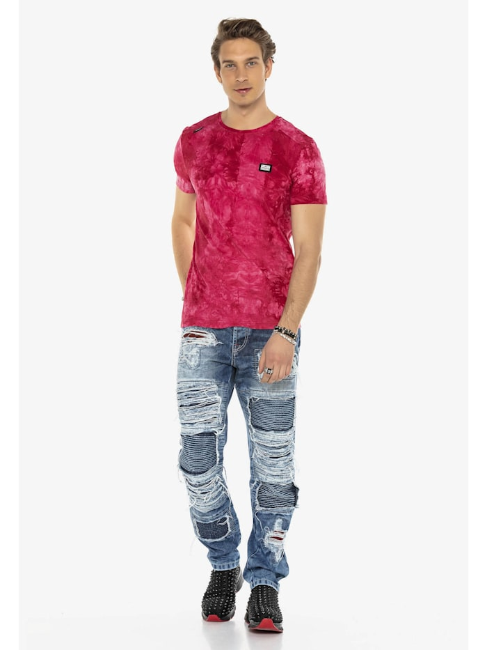 cipo & baxx - Jeans im auffälligen Riss-Design  Blau