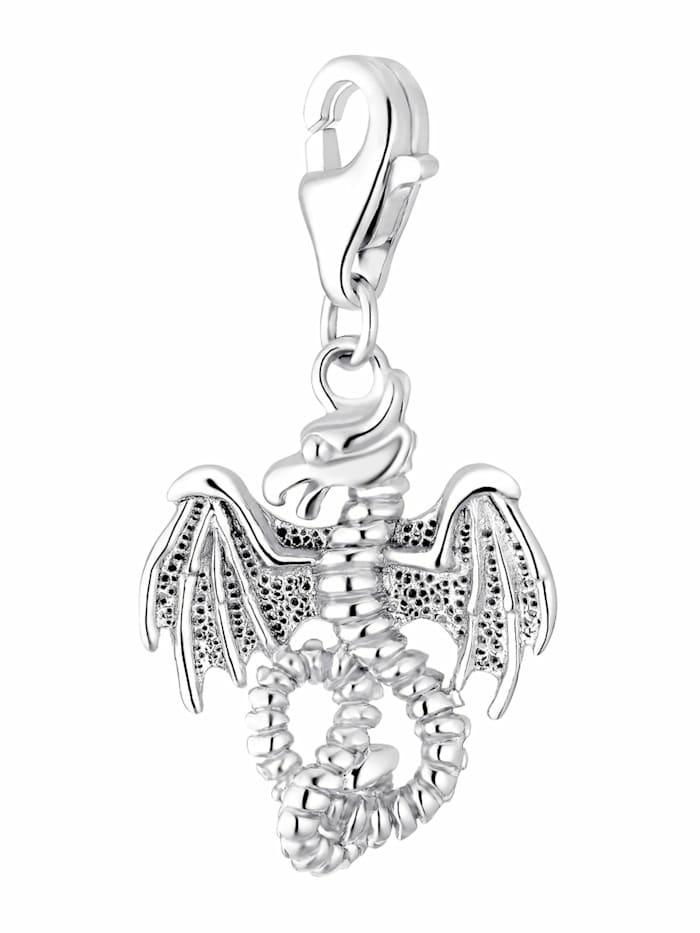 amor - Charms für Damen, 925 Sterling Silber   Drachen  Silber