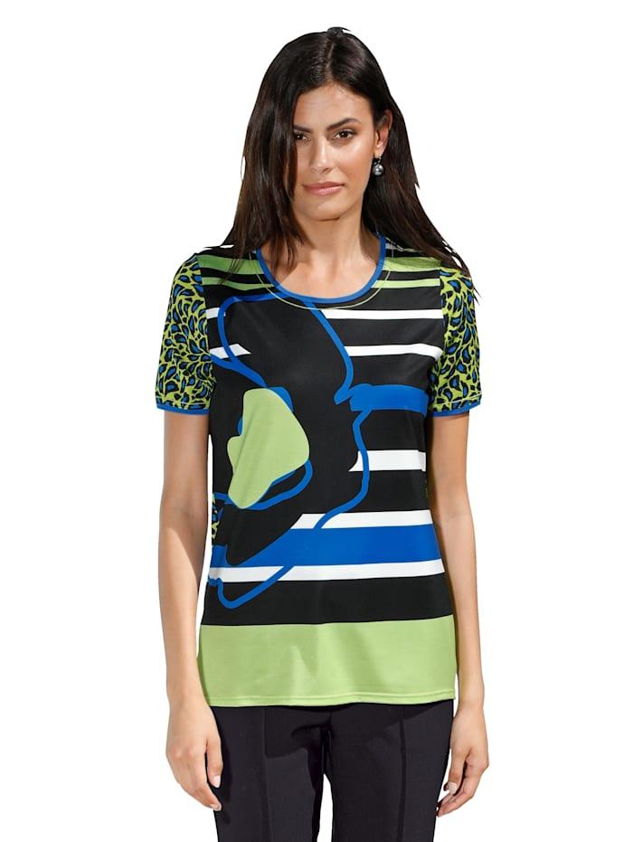 Shirt AMY VERMONT Zwart::Groen::Blauw