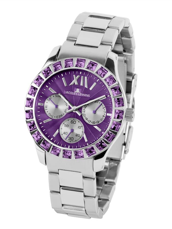 Dameschronograaf Jacques Lemans Zilverkleur::Violet