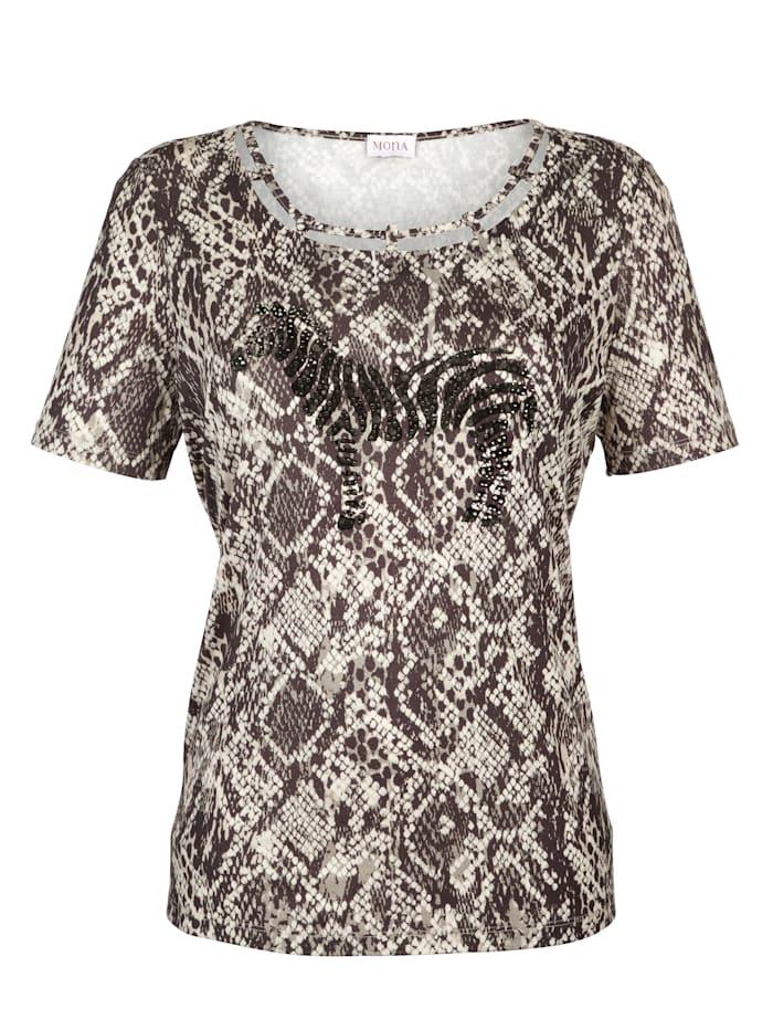 Shirt MONA Bruin::Ecru